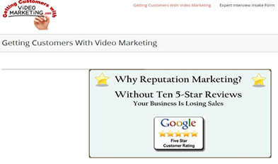 Getting Customers With Video Marketing