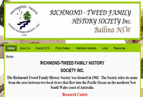 Richmond-Tweed Family History Society